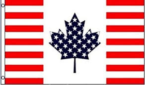Flag-USA/Canada Friendship